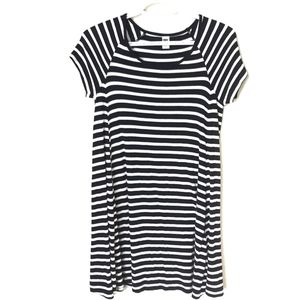 Old Navy Blue and White Striped Dress